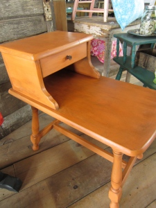 Barcelona orange side table
