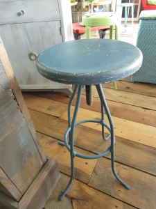 Upcycled shop stool