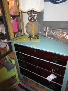 aqua mahogany dresser