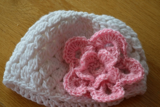My first attempt at crochet flower!